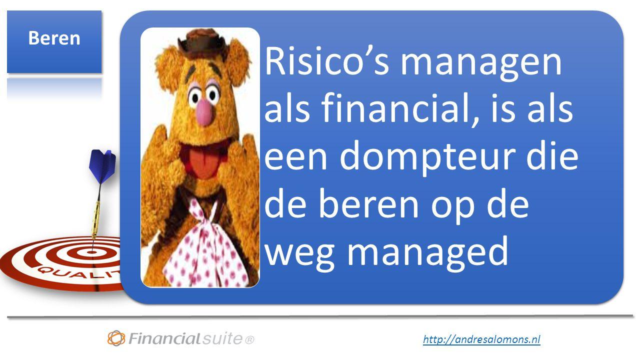 http://andresalomons.nl Risico's managen als financial, is als een dompteur die de beren op de weg managed