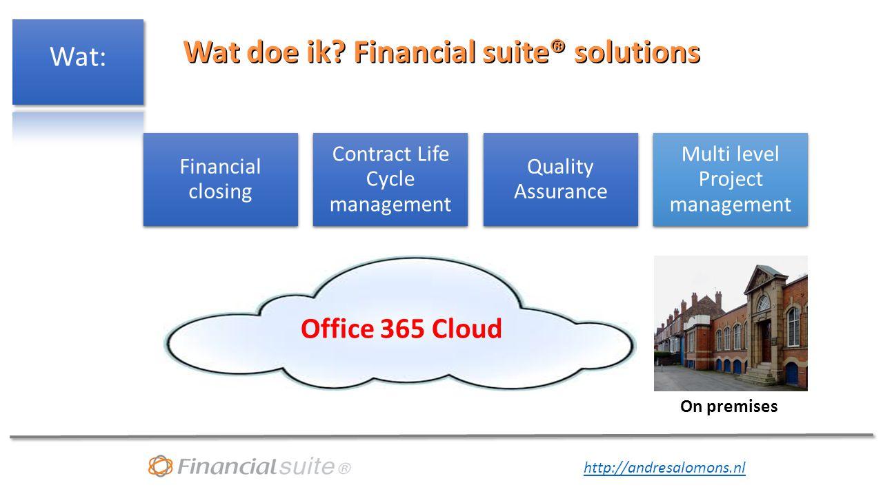 http://andresalomons.nl Wat kan een financial doen in de Cloud.