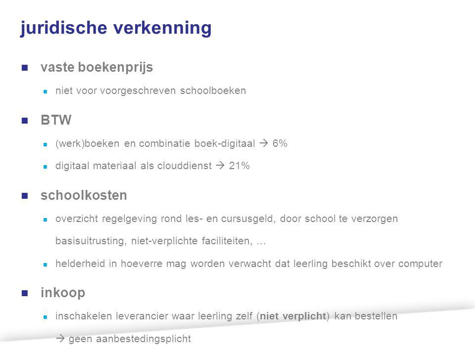 kostenonderzoek 50% 28% 13% omvang markt van verplichte leermaterialen is ca M€ 180.