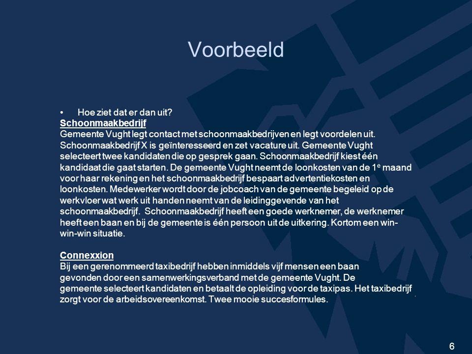 7 Contactgegevens John van Gemert 06-13100512 Sascha van Vliet 06-50280082 Mail; arbeid.en.inkomen@vught.nlarbeid.en.inkomen@vught.nl Tot ziens bij de netwerkborrel..