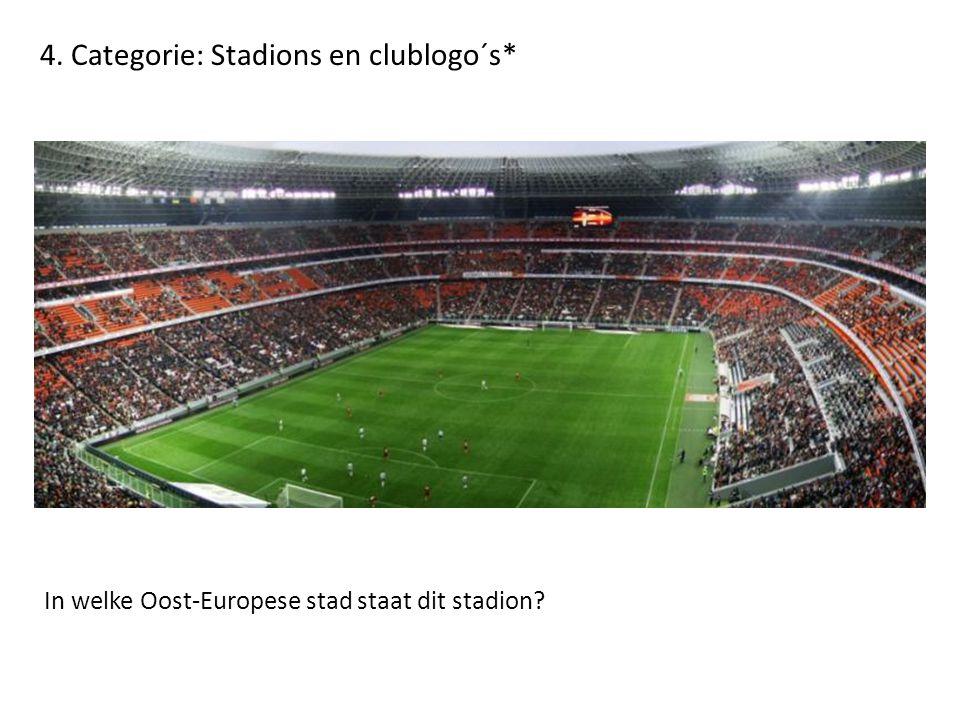 4. Categorie: Stadions en clublogo´s* In welke Oost-Europese stad staat dit stadion?