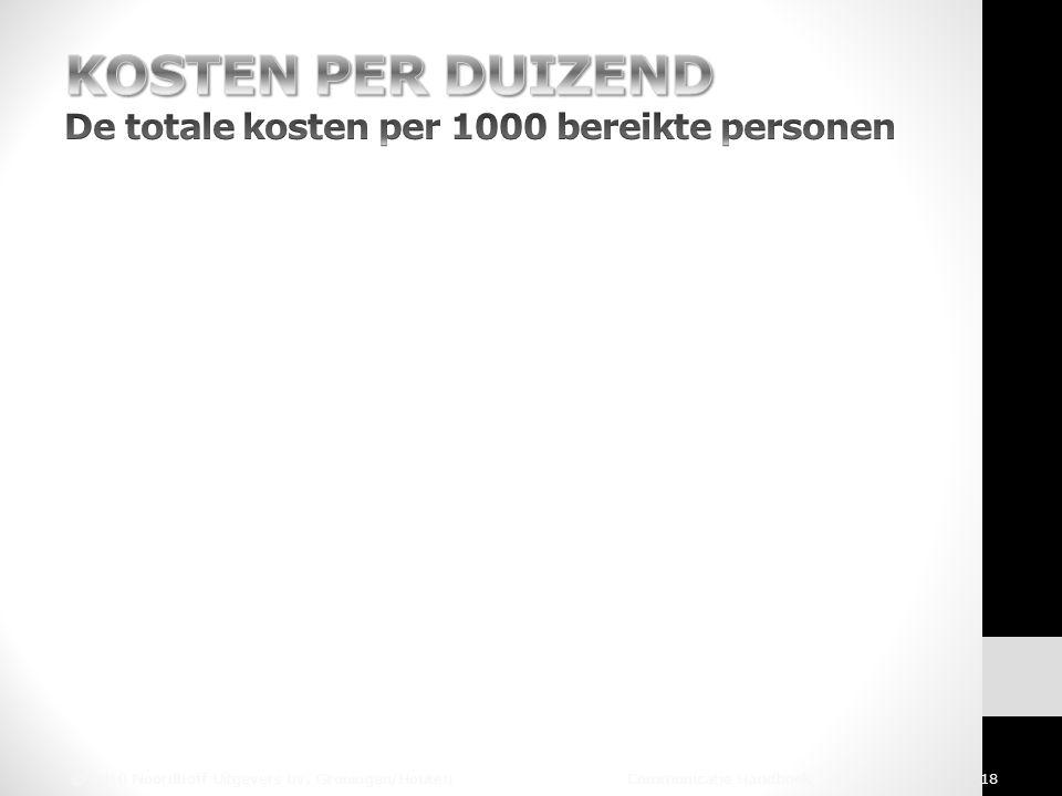 © 2010 Noordhoff Uitgevers bv, Groningen/Houten Communicatie Handboek 18
