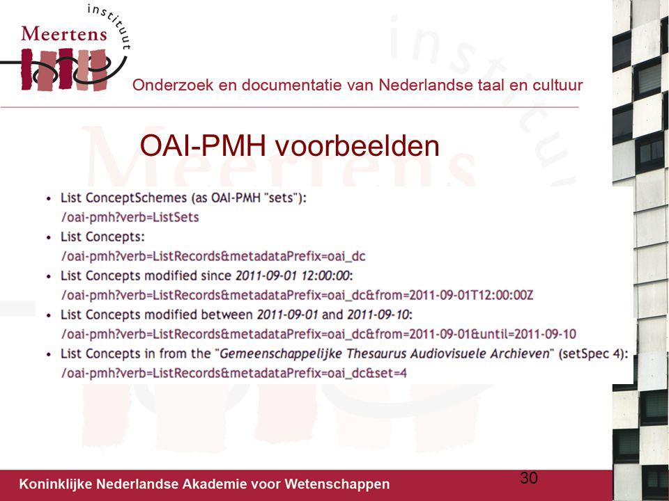 OAI-PMH voorbeelden 30