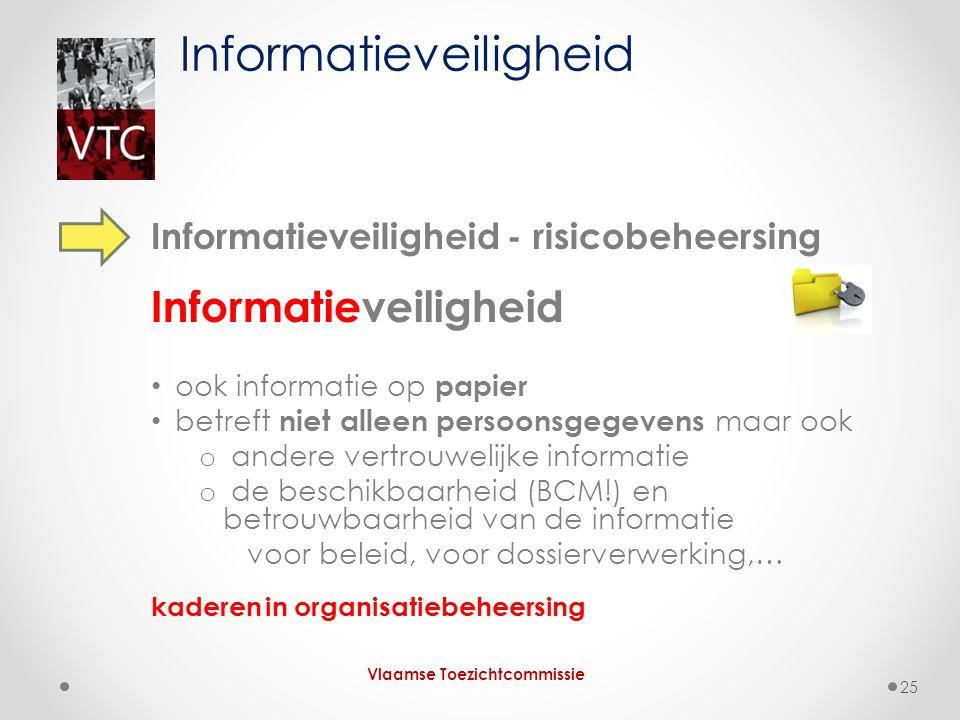 Informatieveiligheid - risicobeheersing Informatieveiligheid ook informatie op papier betreft niet alleen persoonsgegevens maar ook o andere vertrouwe
