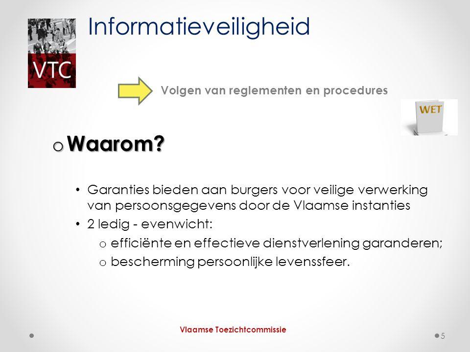 o Waarom? Garanties bieden aan burgers voor veilige verwerking van persoonsgegevens door de Vlaamse instanties 2 ledig - evenwicht: o efficiënte en ef