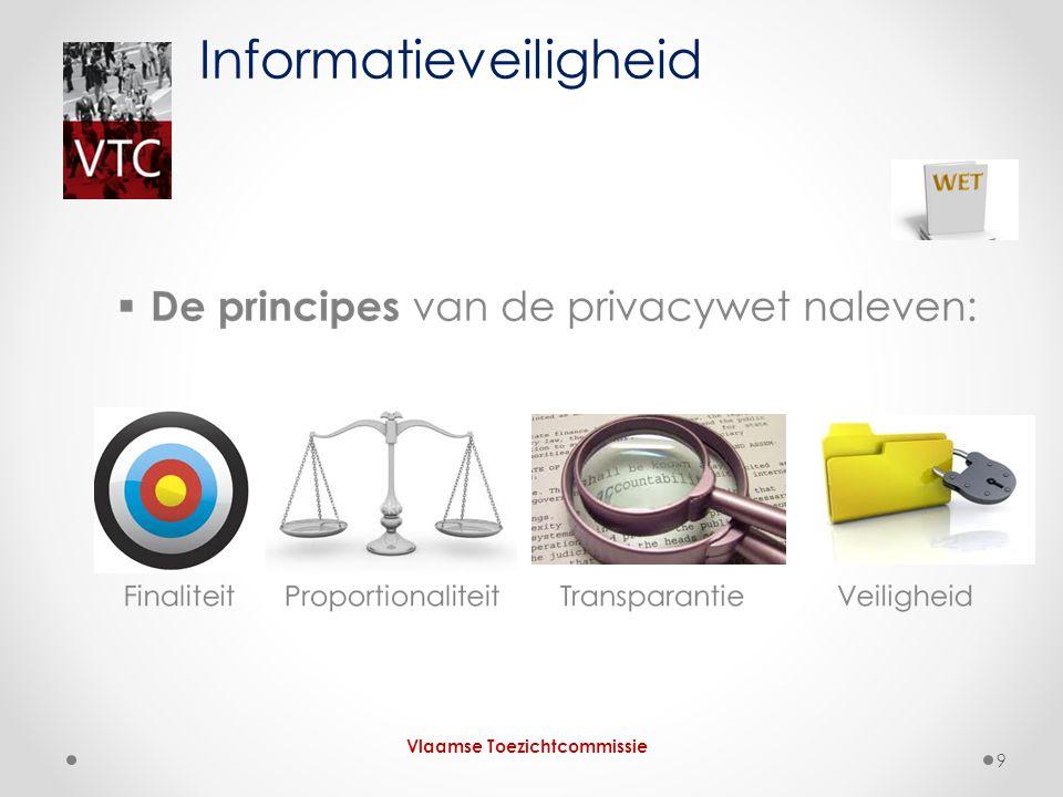 Informatieveiligheid Vlaamse Toezichtcommissie 9