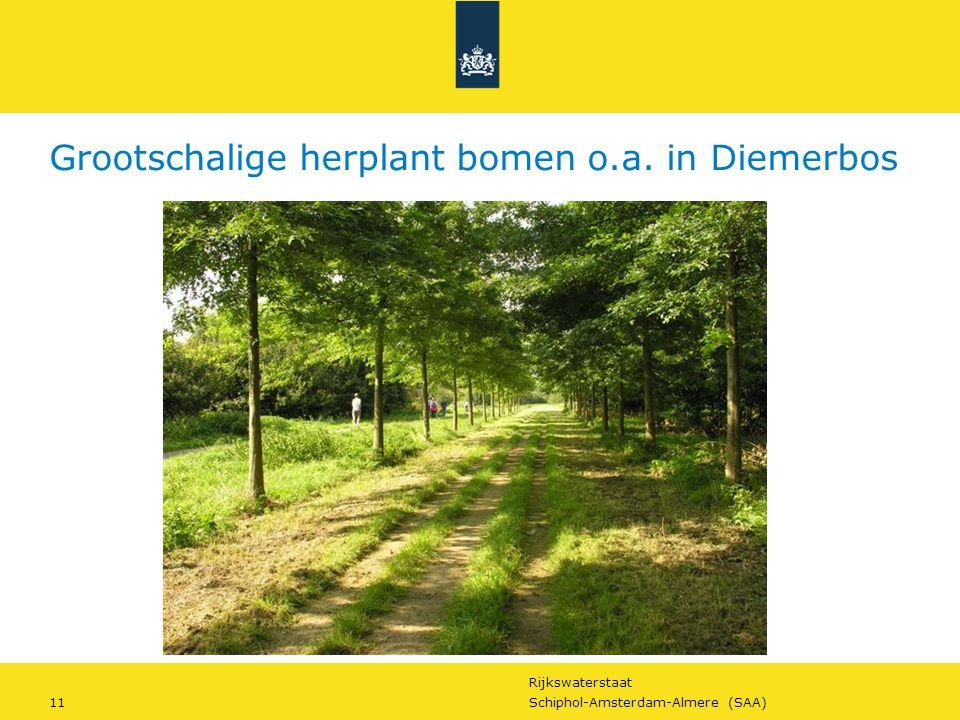 Rijkswaterstaat 11Schiphol-Amsterdam-Almere (SAA) Grootschalige herplant bomen o.a. in Diemerbos