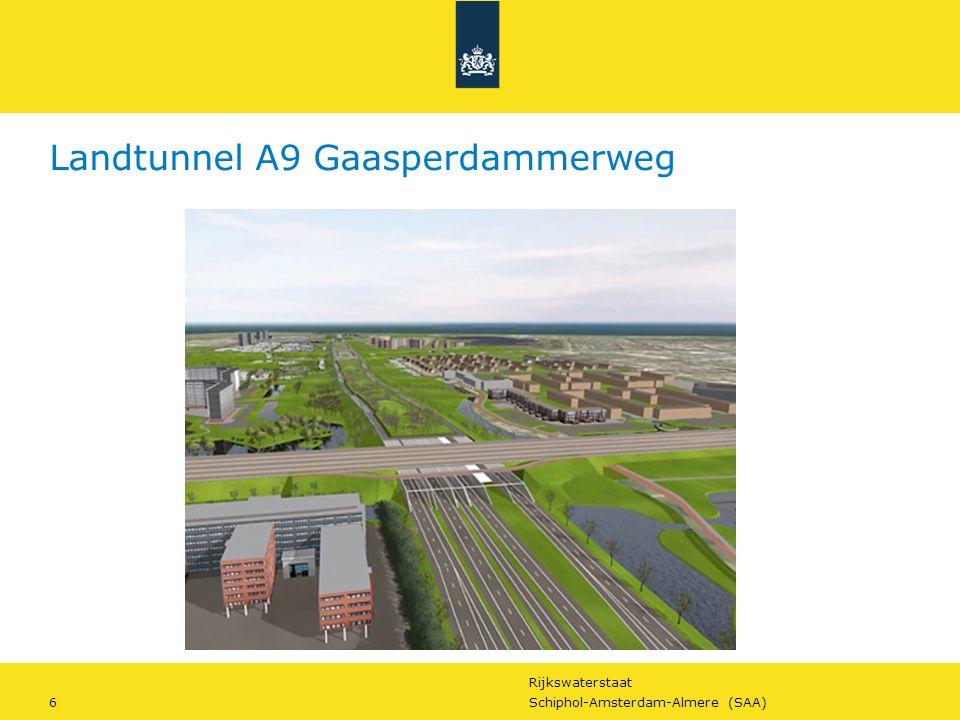 Rijkswaterstaat 17Schiphol-Amsterdam-Almere (SAA) Op naar contract… Planning: Nu – mrt 2014: - scope TB - scope Almere - kansenboek 'duurzaamheid & innovatie' 2014: contractvoorbereiding 2015: marktaankondiging