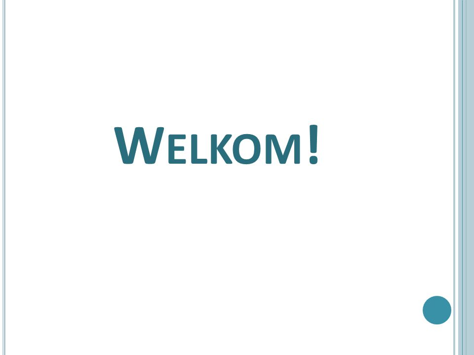 PROGRAMMA dhr.P. van Adrichem, locatiedirecteur mw.