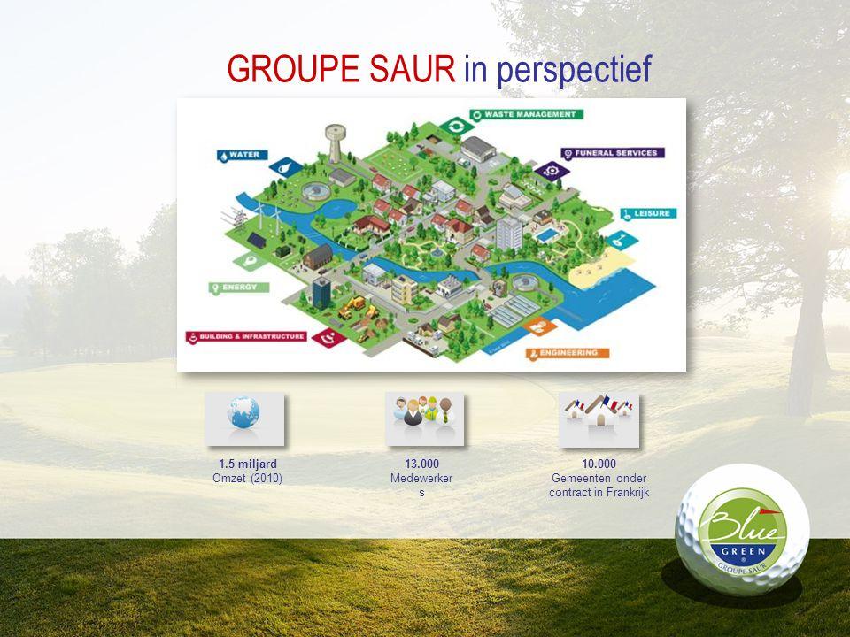 GROUPE SAUR in perspectief 1.5 miljard Omzet (2010) 13.000 Medewerker s 10.000 Gemeenten onder contract in Frankrijk