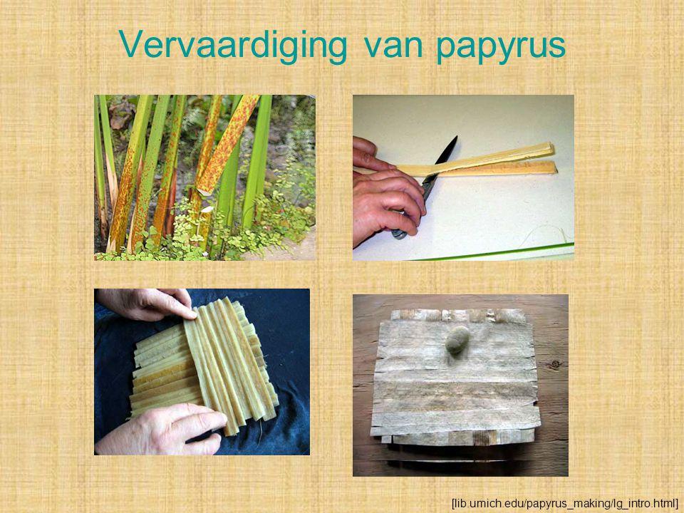 Vervaardiging van papyrus [lib.umich.edu/papyrus_making/lg_intro.html]