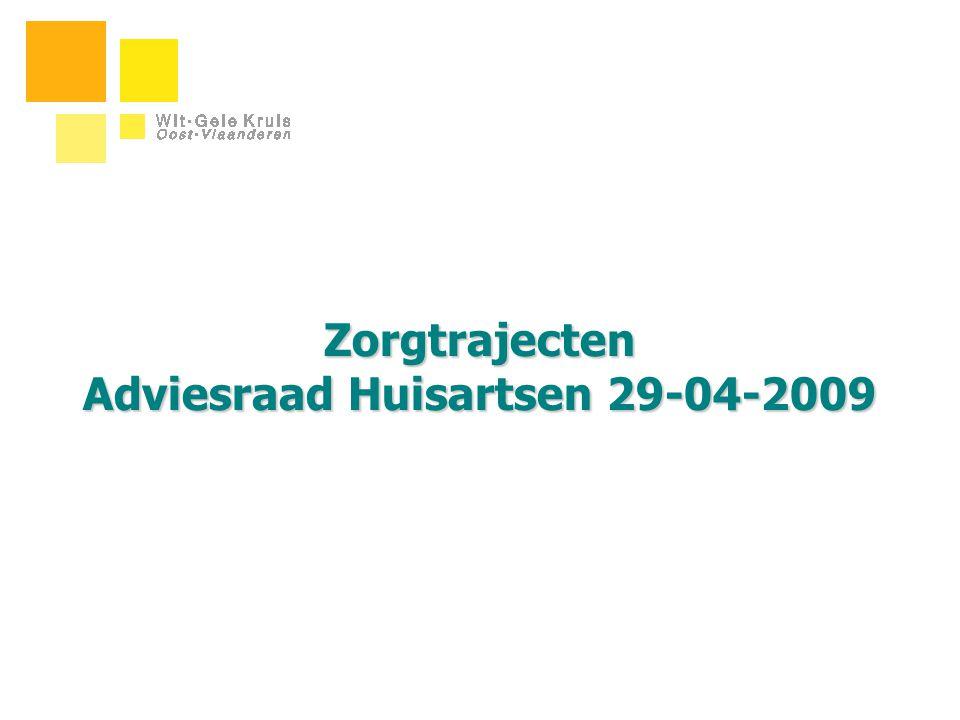 Zorgtrajecten Adviesraad Huisartsen 29-04-2009