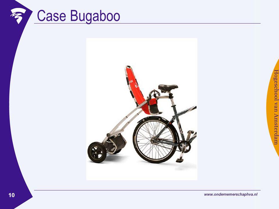 www.ondernemerschaphva.nl 10 Case Bugaboo