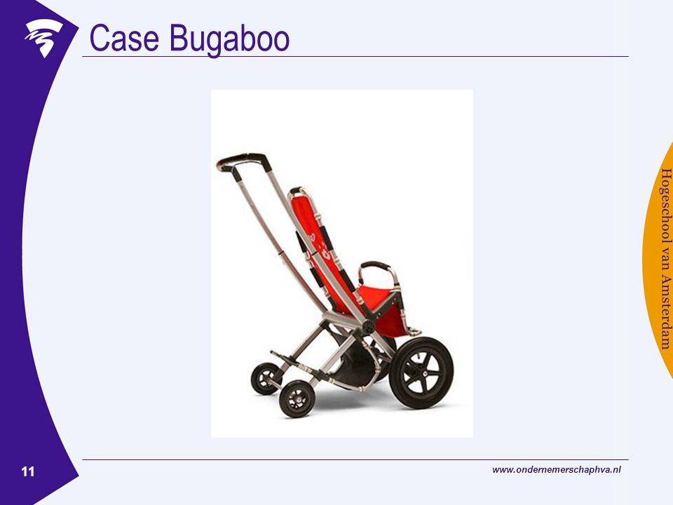 www.ondernemerschaphva.nl 11 Case Bugaboo