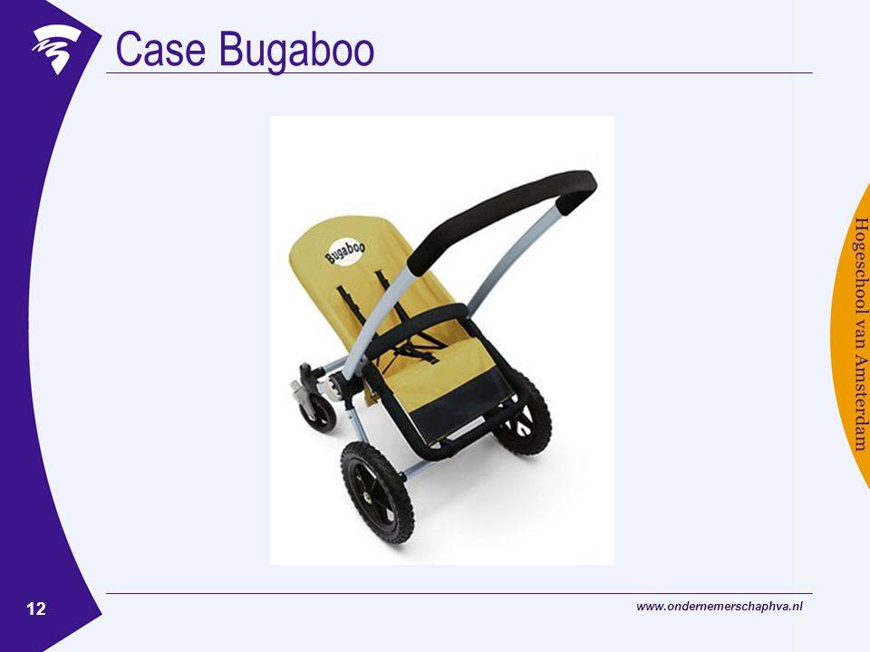 www.ondernemerschaphva.nl 12 Case Bugaboo