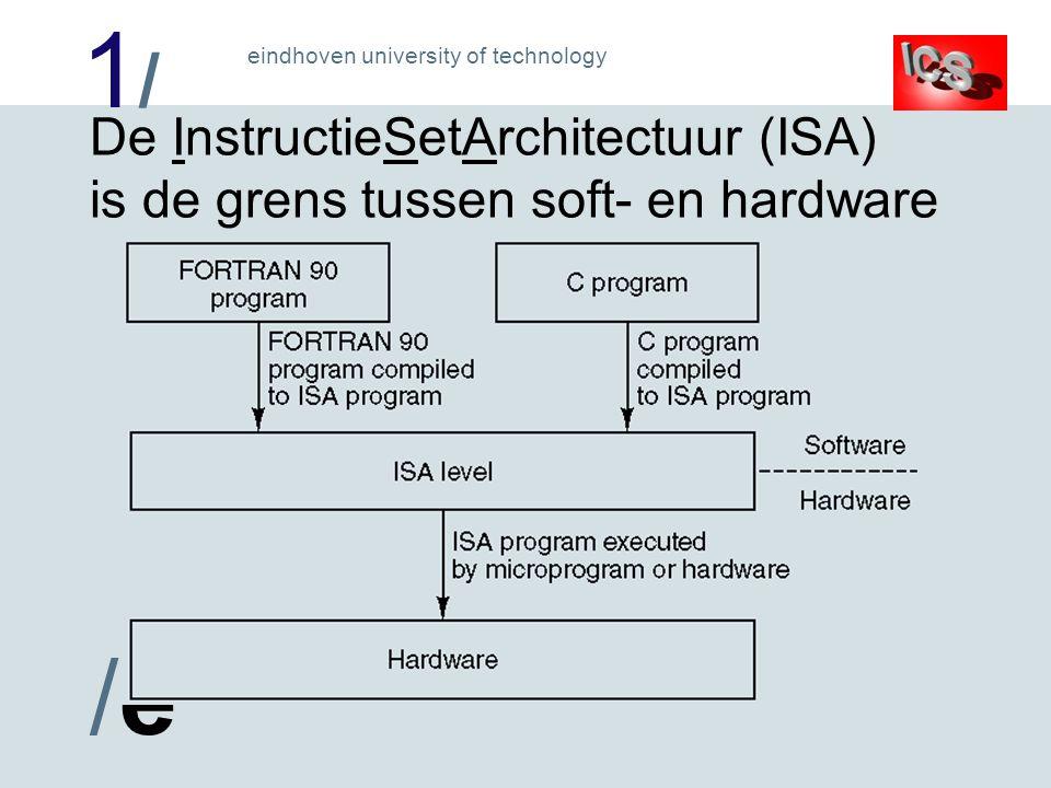 1/1/ /e/e eindhoven university of technology Practicumprocessor CPU registers (1) PC: 16 bits, adresseert 64 kilobyte programma A/ACC: 8 bits, resultaatregister ( Accumulator ) B: 8 bits, voor delen en vermenigvuldigen DPTR: 16 bits, adresseert 64 kilobyte extern gegevens geheugen ( Data PoinTeR ) SP: 8 bits, adresseert stack ( stapel ) in intern gegevens geheugen ( Stack Pointer )