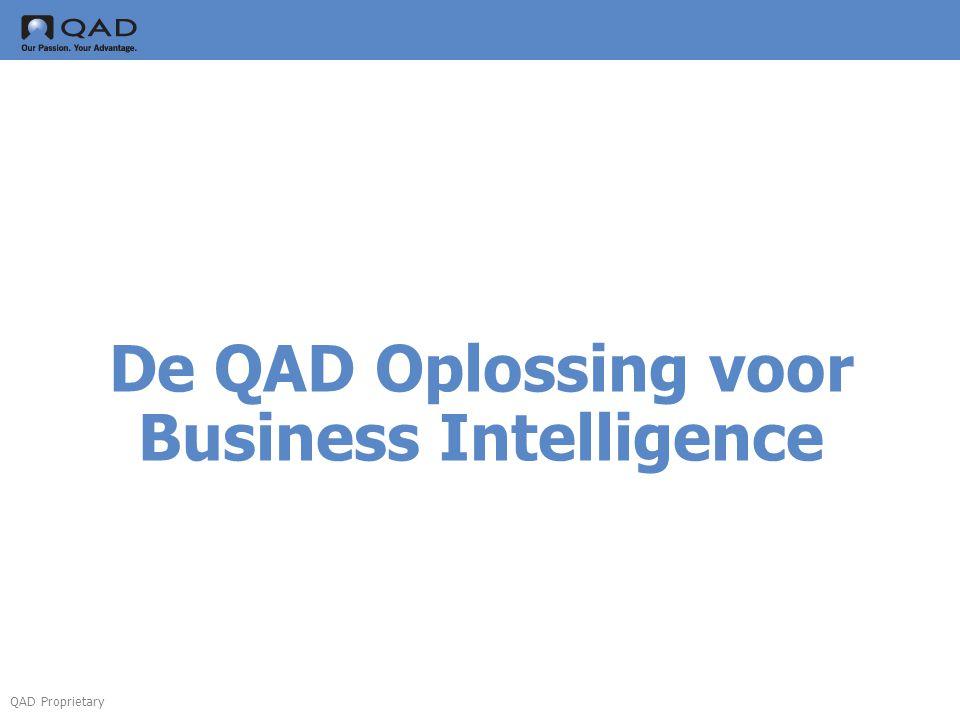 QAD Proprietary De QAD Oplossing voor Business Intelligence