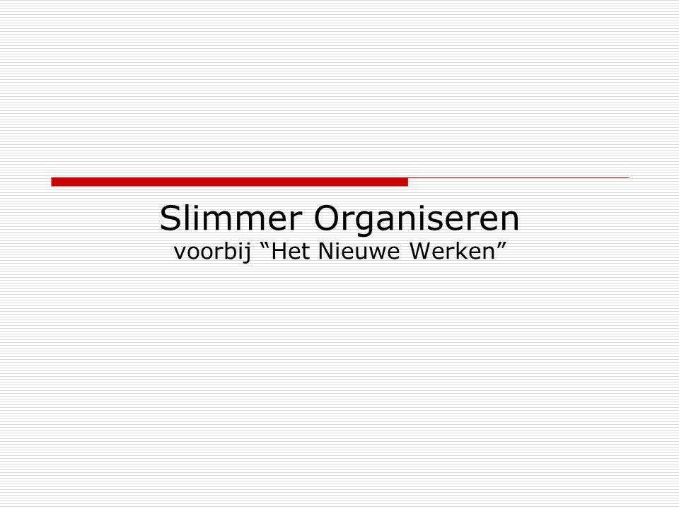 """Slimmer Organiseren voorbij """"Het Nieuwe Werken"""""""
