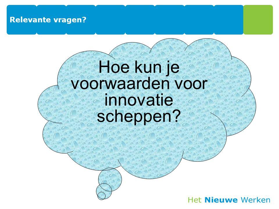 Relevante vragen? Hoe kun je voorwaarden voor innovatie scheppen?