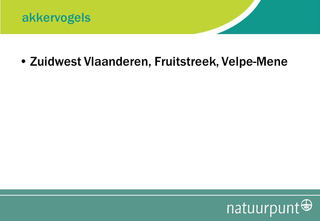 akkervogels Zuidwest Vlaanderen, Fruitstreek, Velpe-Mene