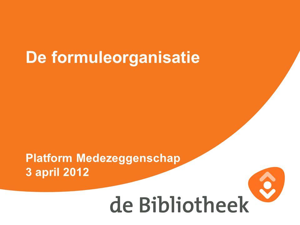 De formuleorganisatie Platform Medezeggenschap 3 april 2012