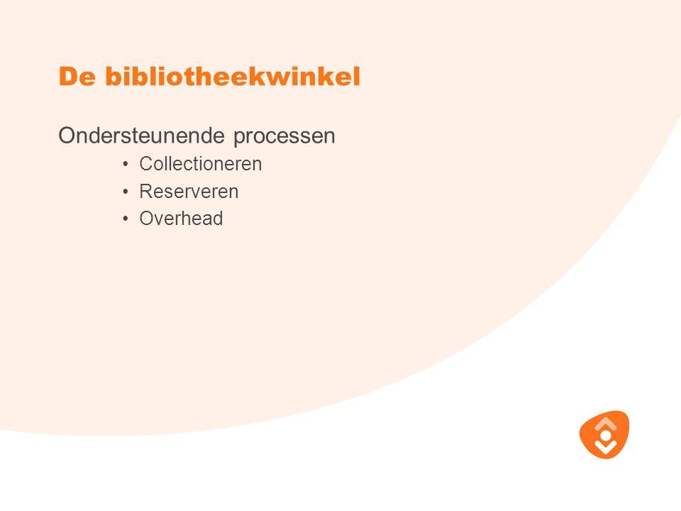 De bibliotheekwinkel Ondersteunende processen Collectioneren Reserveren Overhead