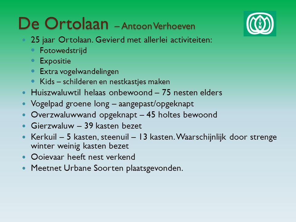 De Ortolaan – Antoon Verhoeven 25 jaar Ortolaan.