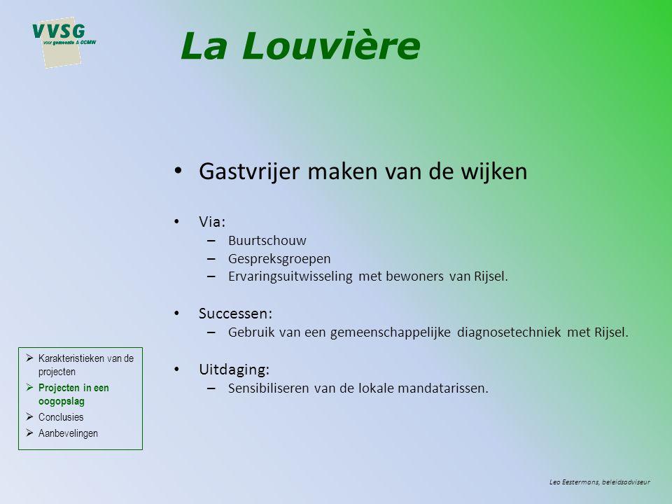 Gastvrijer maken van de wijken Via: – Buurtschouw – Gespreksgroepen – Ervaringsuitwisseling met bewoners van Rijsel.