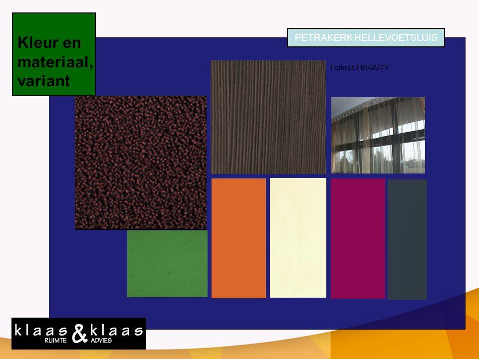 Kleur en materiaal, variant PETRAKERK HELLEVOETSLUIS Formica F8942SMT Flotex Wool 990609