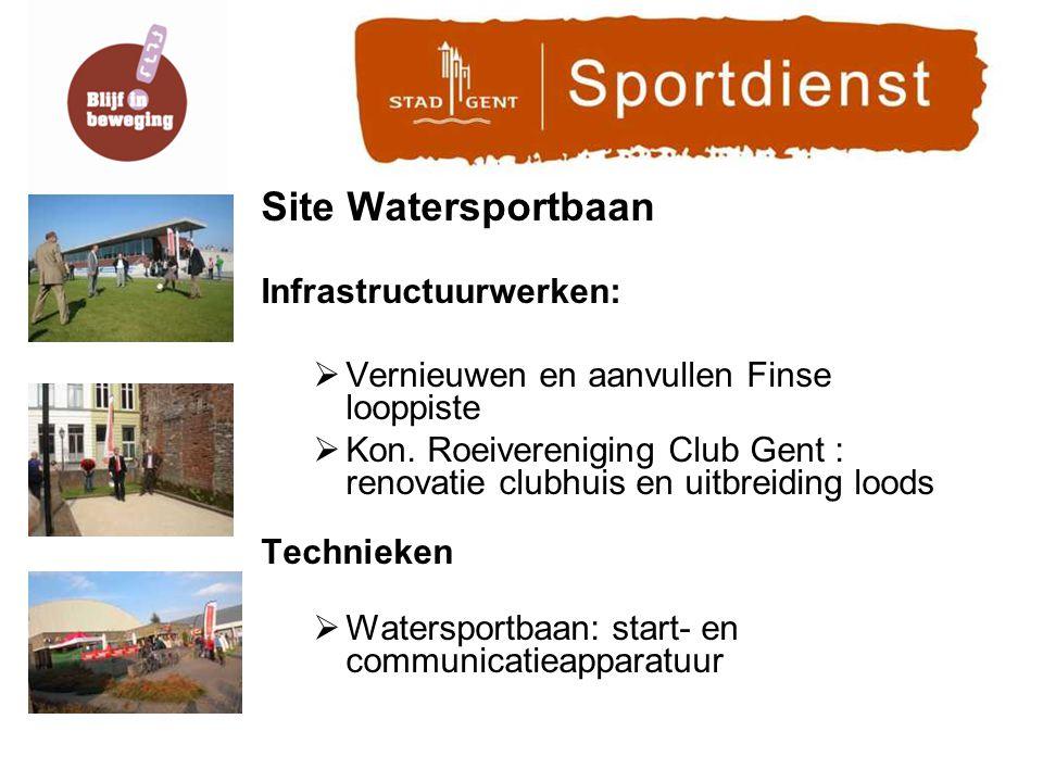 Site Watersportbaan Infrastructuurwerken:  Vernieuwen en aanvullen Finse looppiste  Kon.