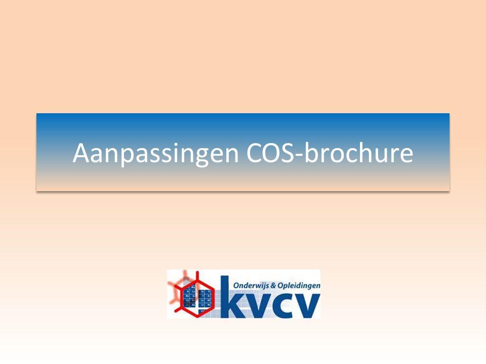 Aanpassingen COS-brochure