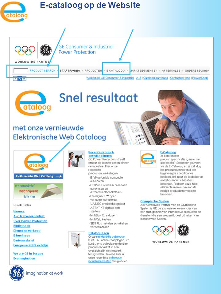 E-cataloog op de Website