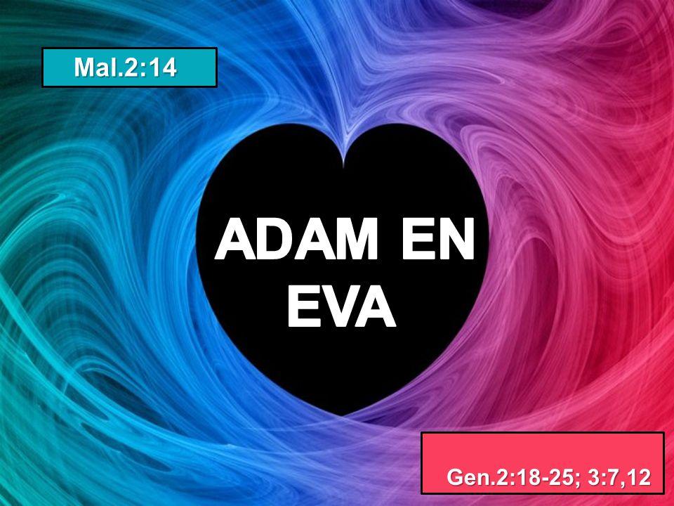 Mal.2:14 Mal.2:14 Gen.2:18-25; 3:7,12