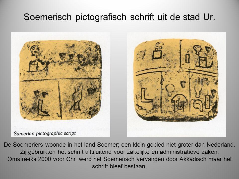 Soemerisch pictografisch schrift uit de stad Ur. De Soemeriers woonde in het land Soemer; een klein gebied niet groter dan Nederland. Zij gebruikten h