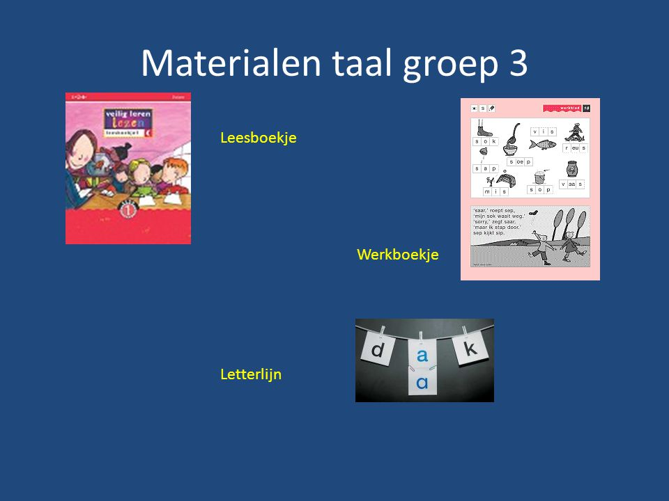 Materialen taal groep 3 Leesboekje Werkboekje Letterlijn