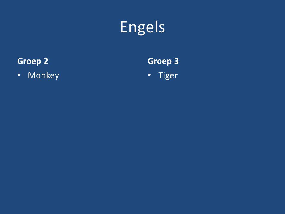 Engels Groep 2 Monkey Groep 3 Tiger