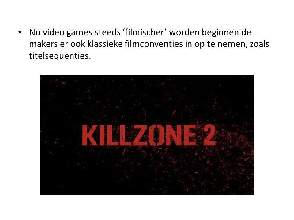 Nu video games steeds 'filmischer' worden beginnen de makers er ook klassieke filmconventies in op te nemen, zoals titelsequenties.