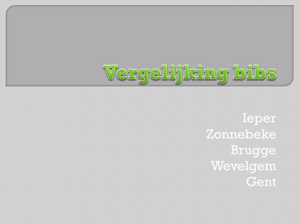 Ieper Zonnebeke Brugge Wevelgem Gent