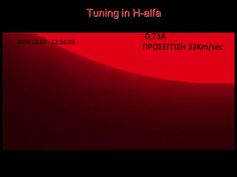 Tuning in H-alfa