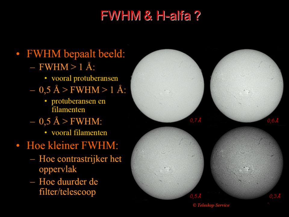 FWHM & H-alfa ?