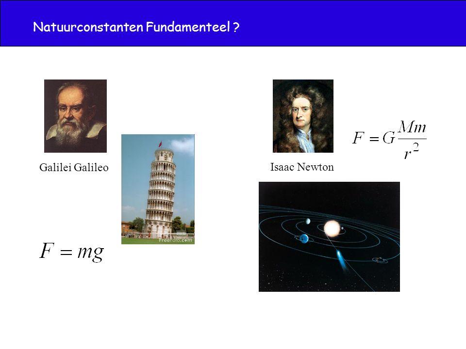 Natuurconstanten Fundamenteel ? Galilei Galileo Isaac Newton