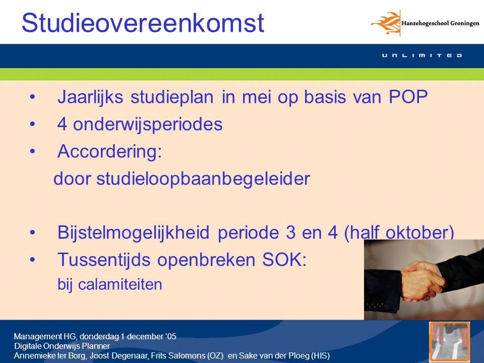 Management HG, donderdag 1 december '05 Digitale Onderwijs Planner Annemieke ter Borg, Joost Degenaar, Frits Salomons (OZ) en Sake van der Ploeg (HIS) Vragen deel 3: implementatie DOP Ondersteuning DOP-managers/redacteuren: Frits Salomons, Theo Verbeek, Dick Zevenhuyzen Algemene vragen: Tina Klok (projectassistent), j.klok@pl.hanze.nlj.klok@pl.hanze.nl Informatie voor management: Blackboard organisation De Digitale Onderwijs Planner