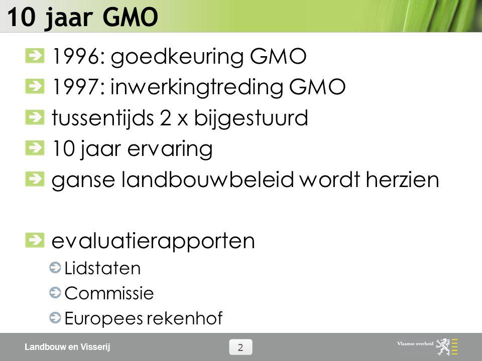 Landbouw en Visserij 13 Hervorming GMO 2007 flexibele regels voor verkoop via andere TV flexibele regels voor verkoop producten niet-leden regels voor samenwerking met ander TV uit andere sectoren