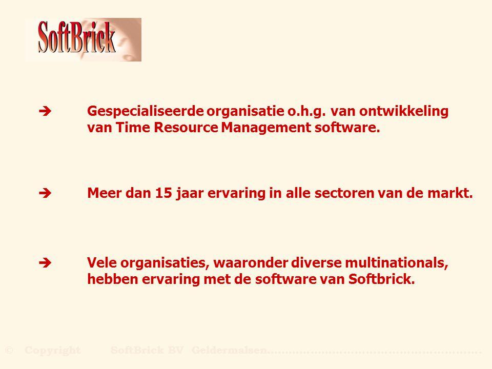 èGespecialiseerde organisatie o.h.g. van ontwikkeling van Time Resource Management software. èMeer dan 15 jaar ervaring in alle sectoren van de markt.