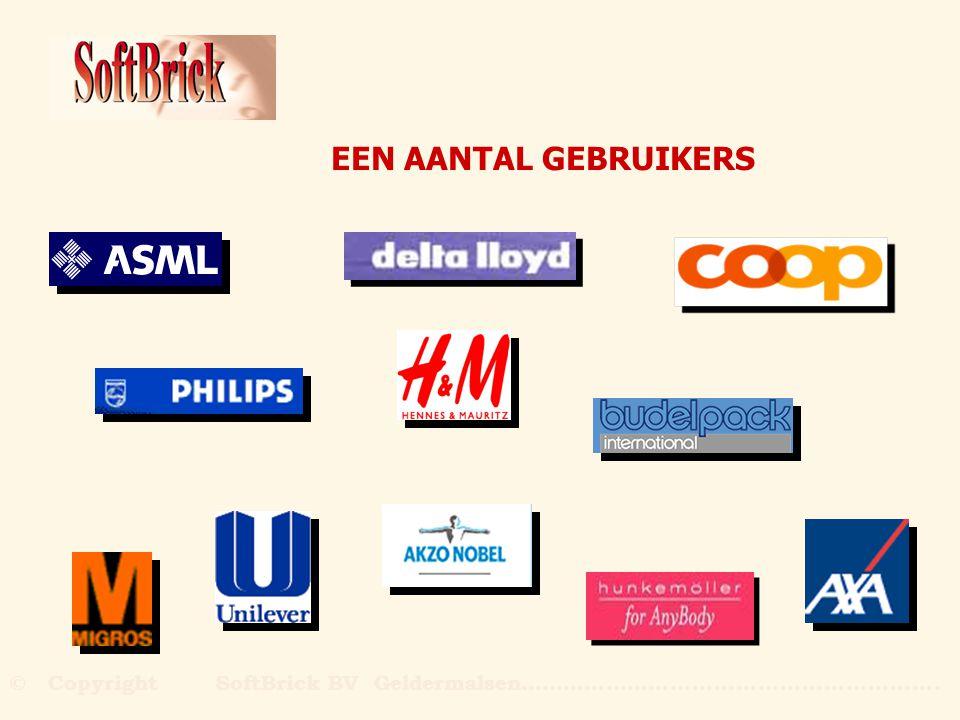EEN AANTAL GEBRUIKERS © Copyright SoftBrick BV Geldermalsen………………….....................................