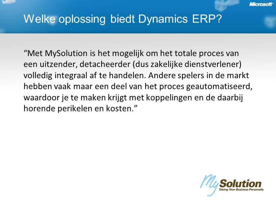 Met MySolution is het mogelijk om het totale proces van een uitzender, detacheerder (dus zakelijke dienstverlener) volledig integraal af te handelen.