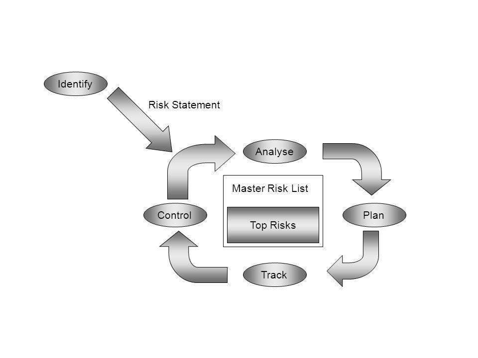 Master Risk List Top Risks Analyse Identify Plan Track Control Risk Statement