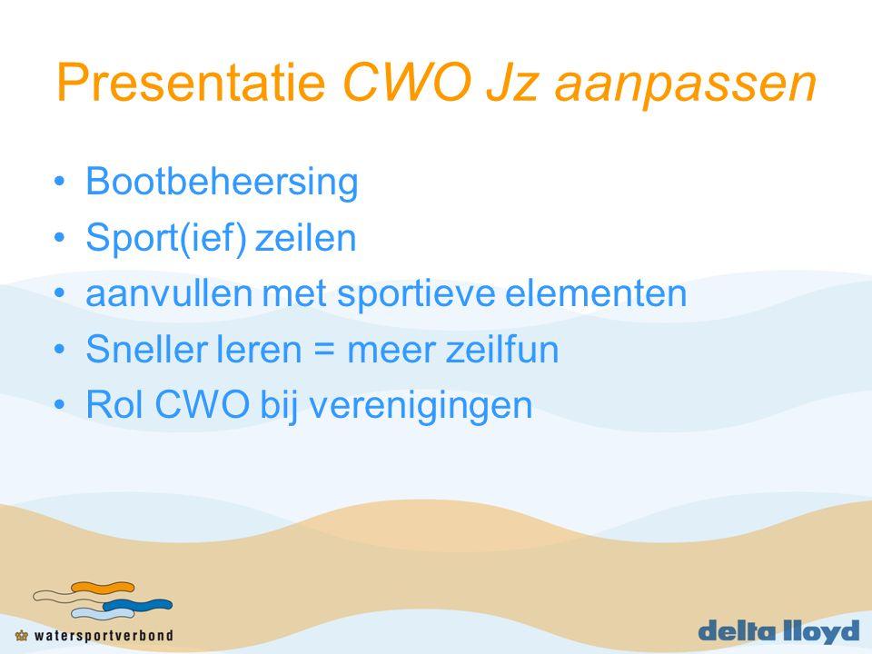 Groepsdiscussie Waarvoor gebruiken jullie CWO.