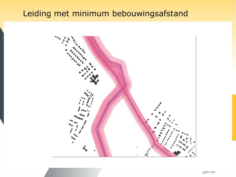 Leiding met minimum bebouwingsafstand