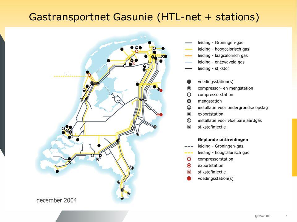 Gastransportnet Gasunie (HTL-net + stations)